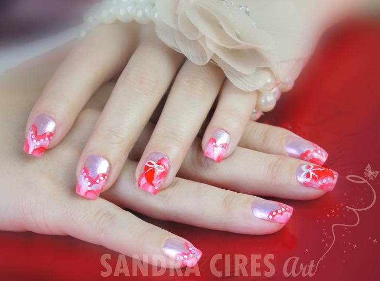 Diseño de Uñas - Nail Art - San Valentin 2012