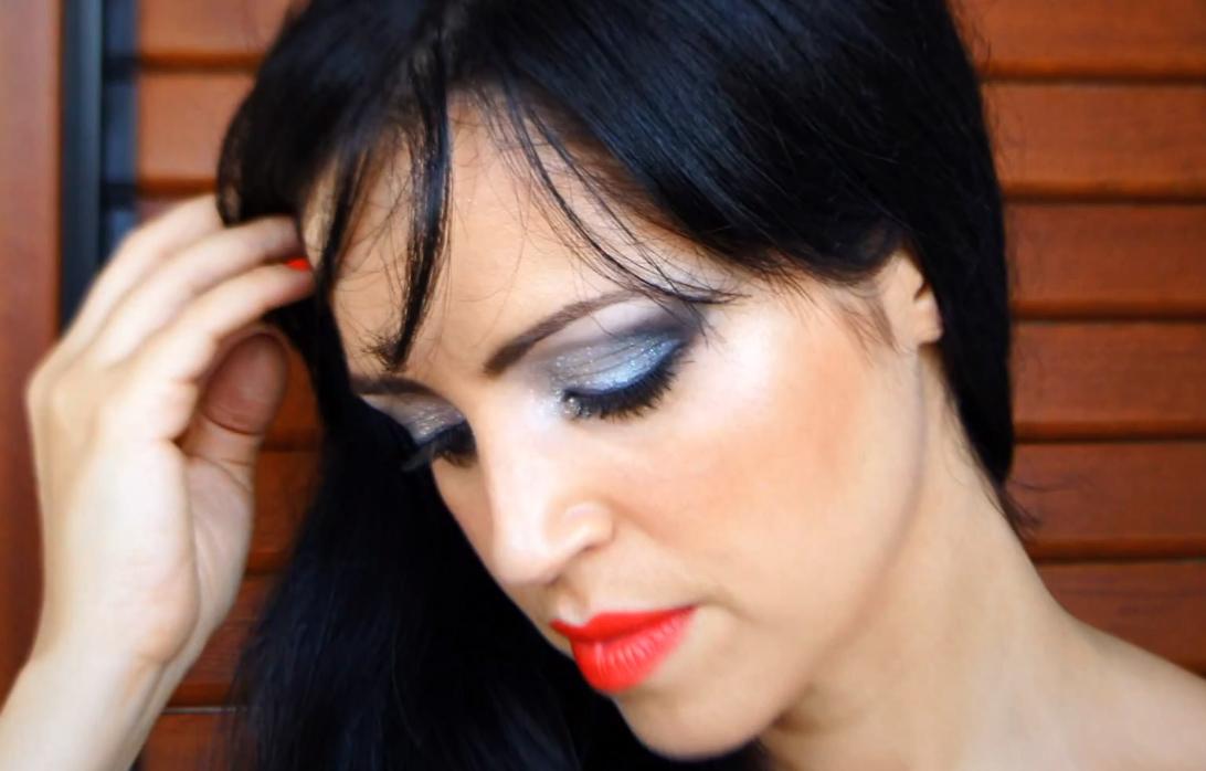 Plateado y Negro Makeup